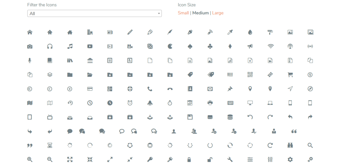 WP SVG Icons WordPress Icons Plugins demo page