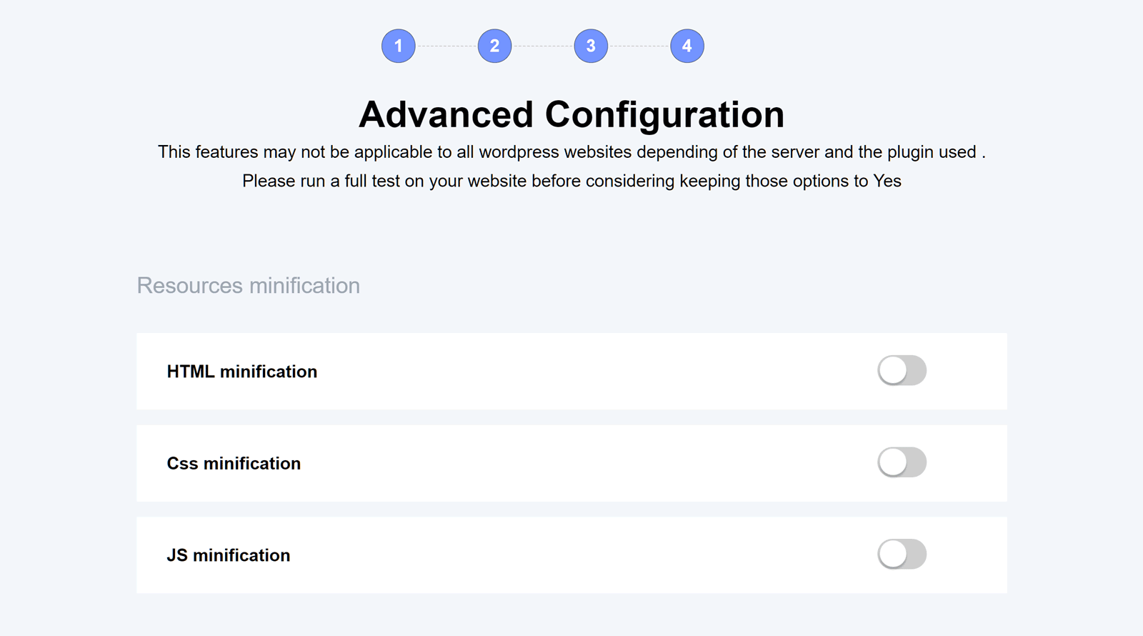 Website Minification