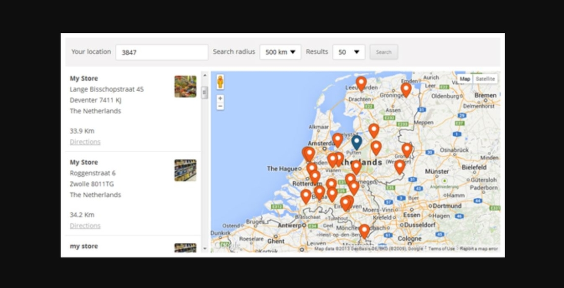 WP Store Locator demo page