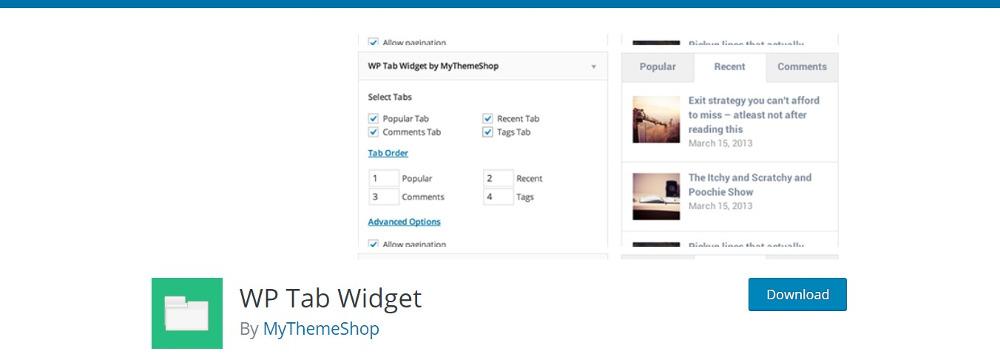WordPress Tab Plugins - WP Tab Widget