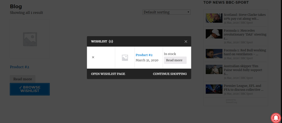 WPC Smart Wishlist for WooCommerce Demo Page