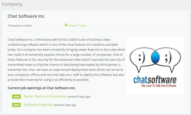 WPJobBoard Employee Profile
