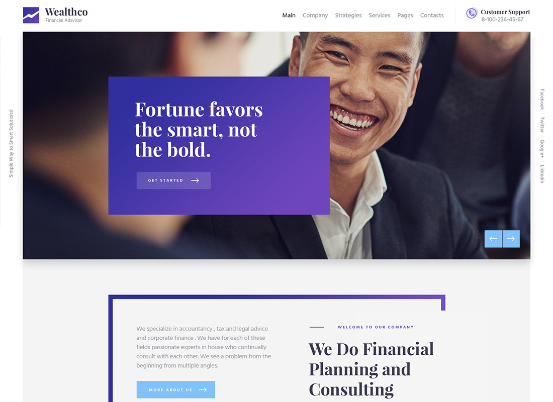 WealthCo - A Fresh Business & Financial Consulting WordPress Theme