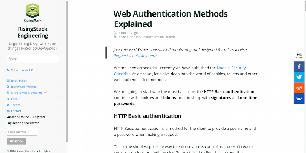 Web Authentication Methods Explained