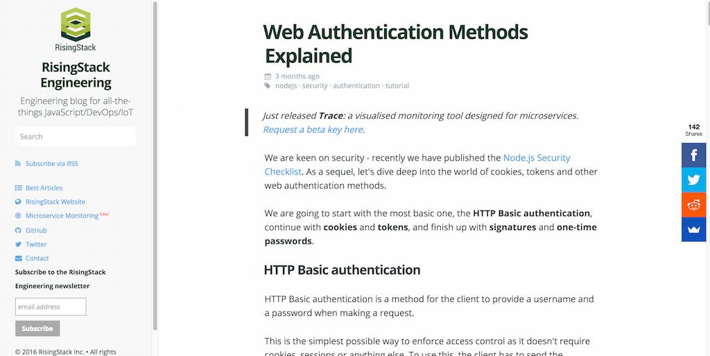 Web Authentication Methods Explained