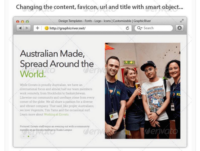 Web Browser Templates Mockup