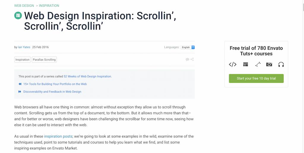 Web Design Inspiration Scrollin' Scrollin' Scrollin'