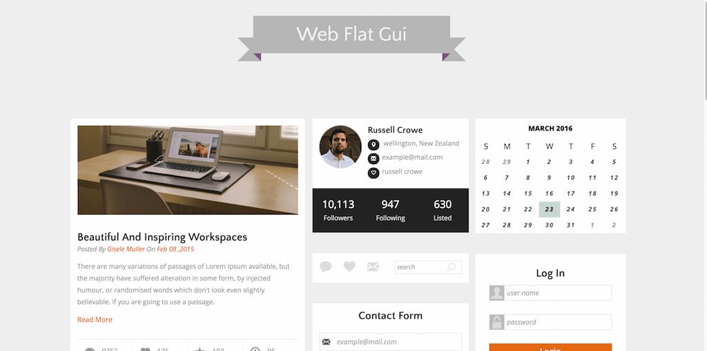 Web Flat Gui