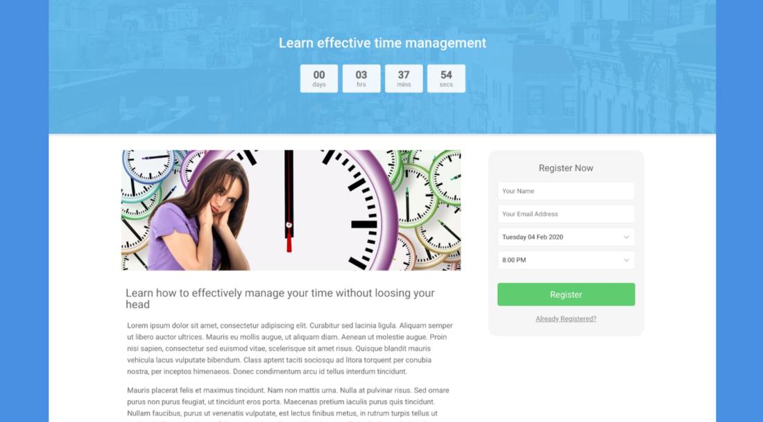 WebinarPress demo page