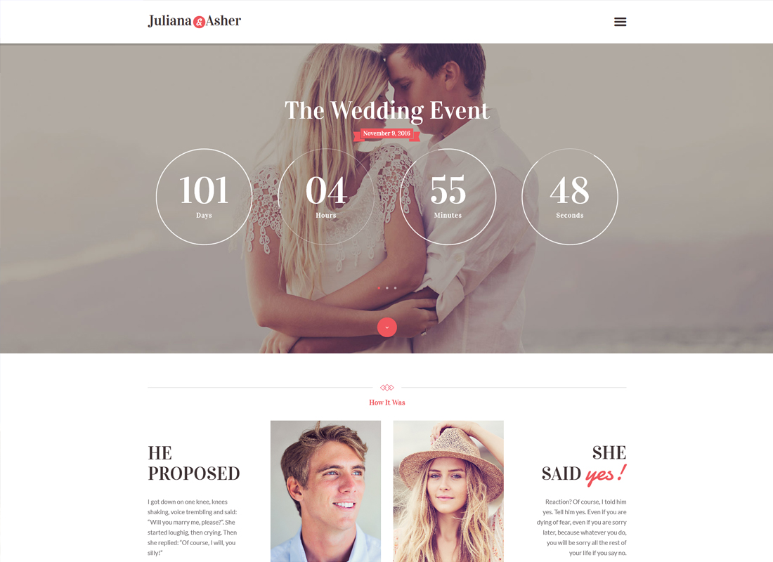 Wedding Day - Event WordPress Theme