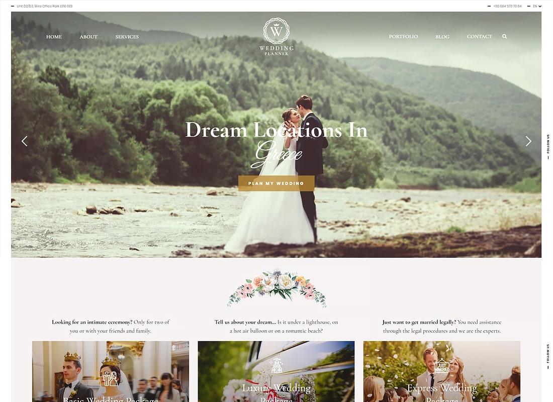 Wedding Planner - Responsive Wedding Theme