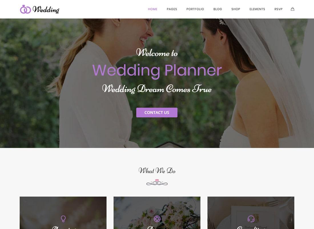 Wedding - Wedding & Wedding Planner WordPress Theme