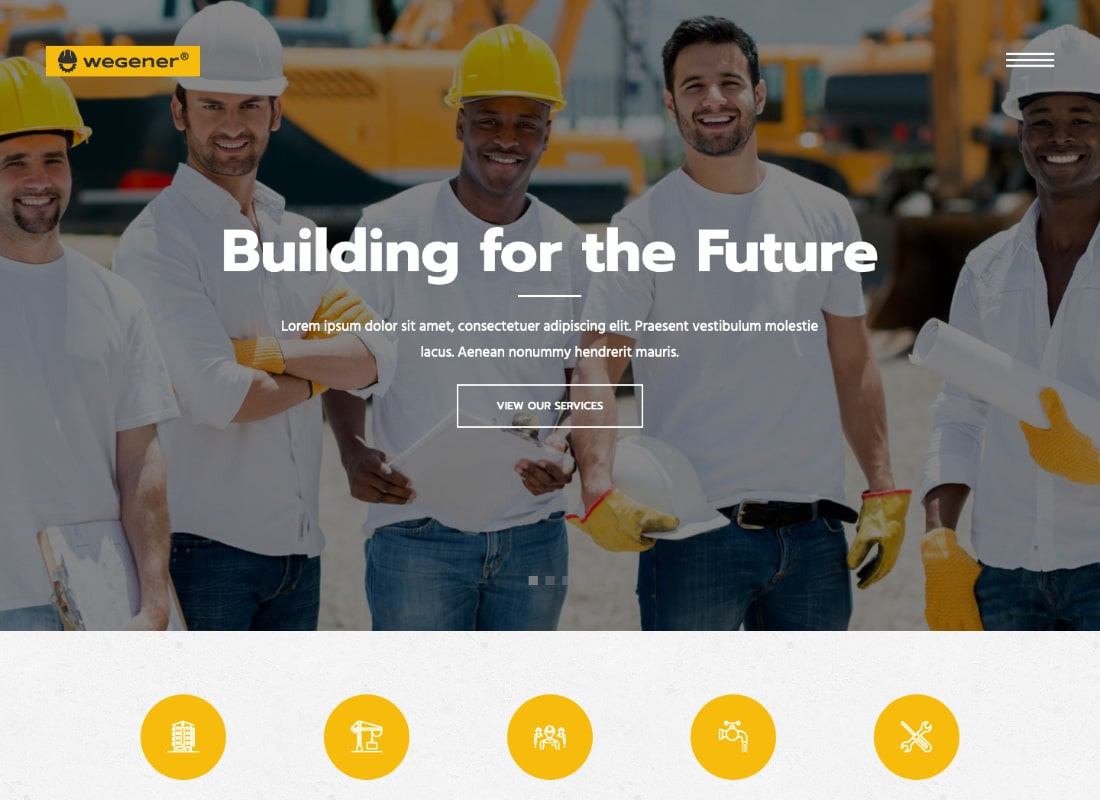 Wegener | Construction Business & Engineering Building WordPress Theme
