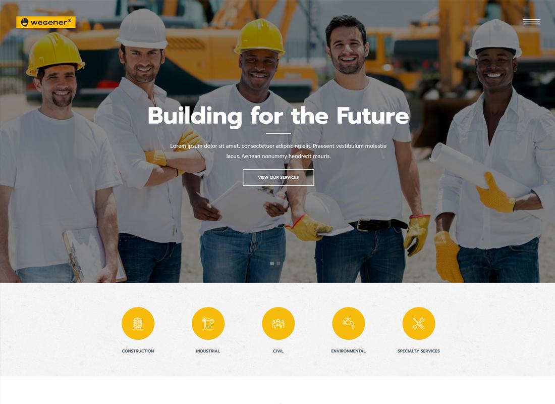 Wegener | Construction & Engineering WordPress Theme