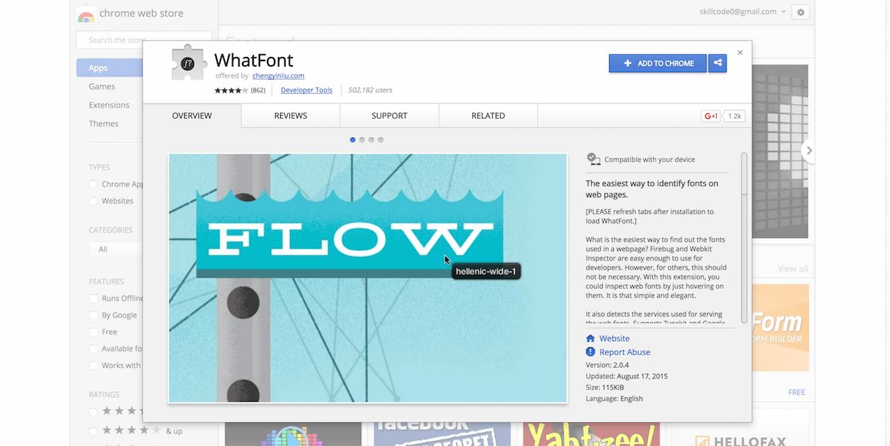 WhatFont Chrome Web Store