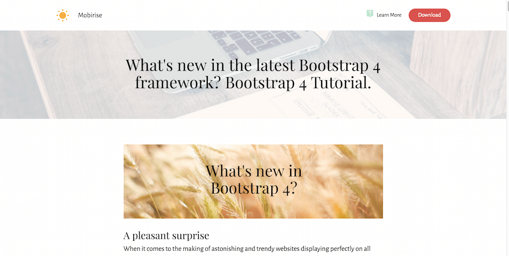 What's new in the latest Bootstrap 4 framework-