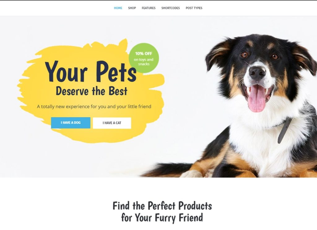 Whiskers | Pets Store | Vet Clinic | Animal Adoption WordPress Theme