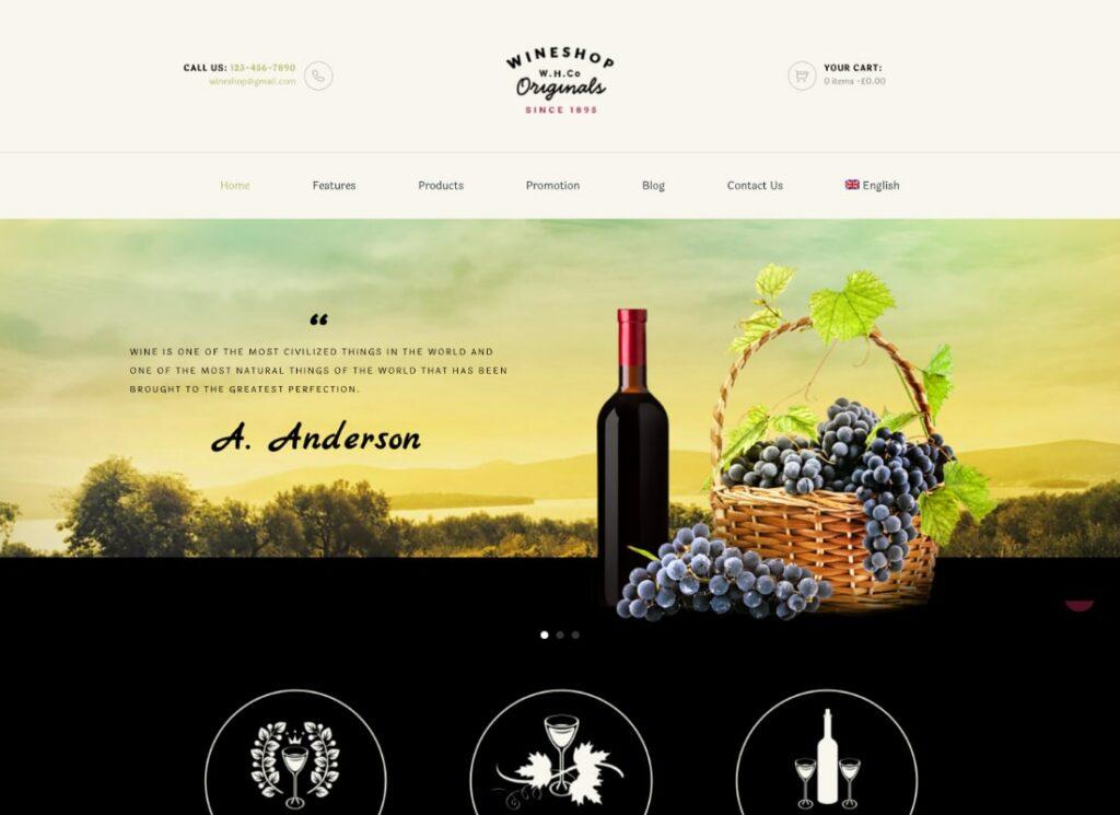 WineShop   Food & Wine Online Delivery Store WordPress Theme