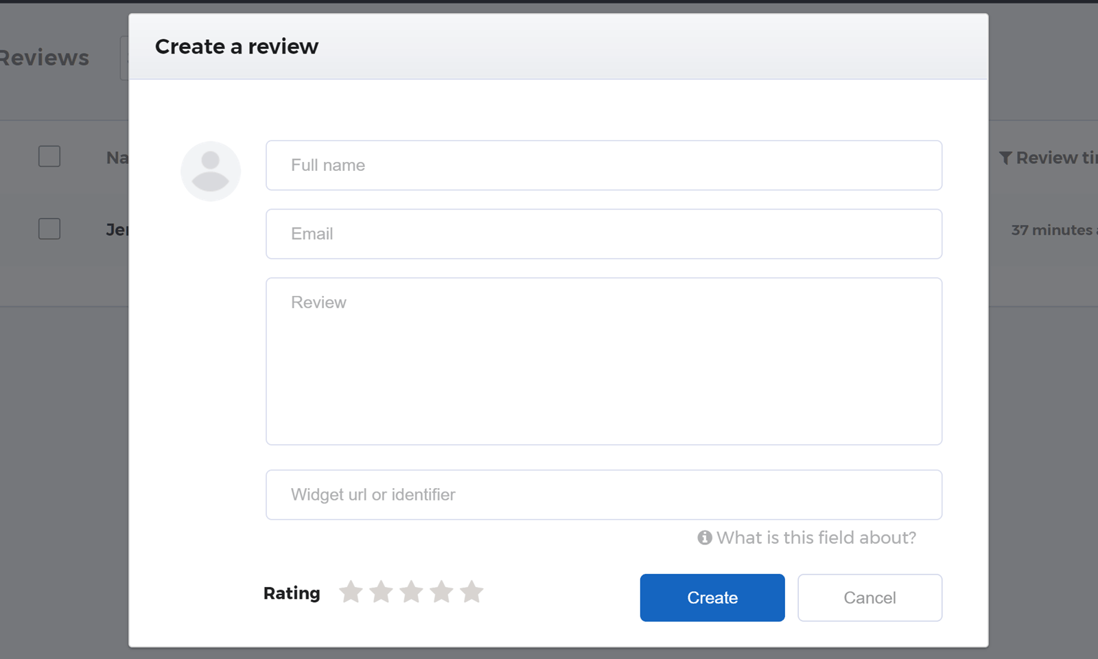 Create a Review