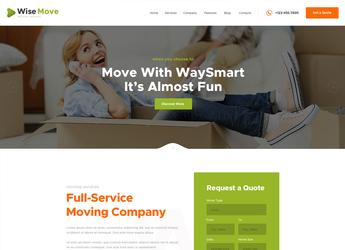 Wise Move - Moving and Storage Services WordPress Theme