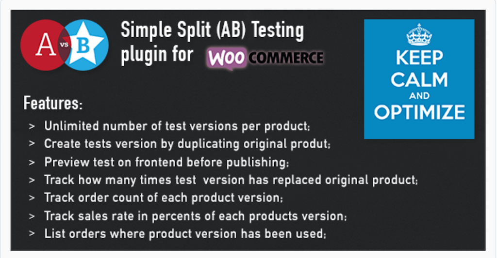 WooCommerce AB Split Testing