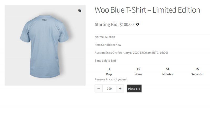 WooCommerce Auction For Bidding