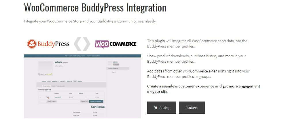 WooCommerce BuddyPress Integration