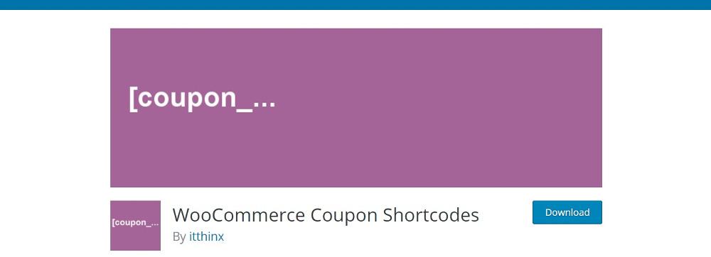 WooCommerce Coupon Shortcodes