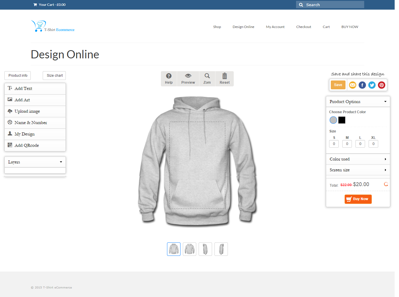 Functional WooCommerce Product Designer Plugin