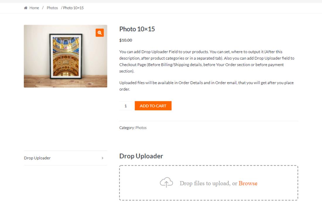 Minimalist WooCommerce File Upload Plugins