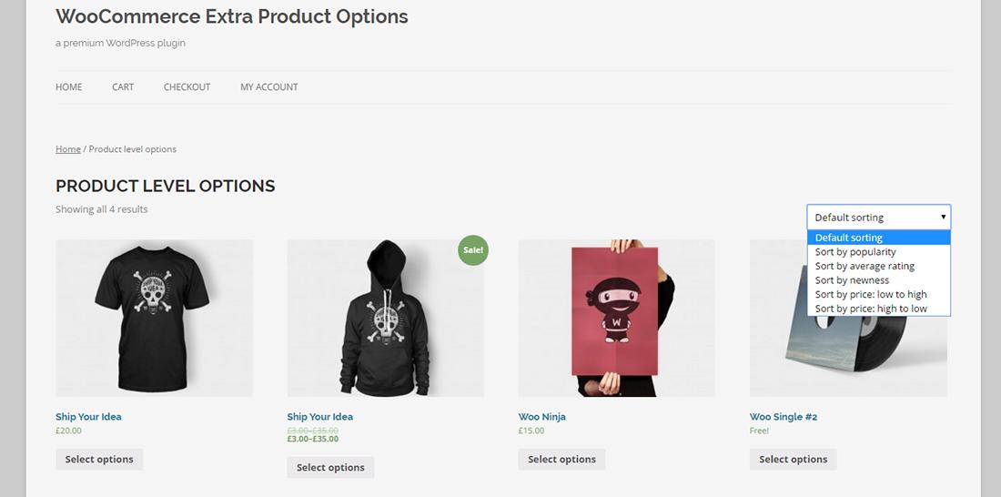 WooCommerce Extra Product Option