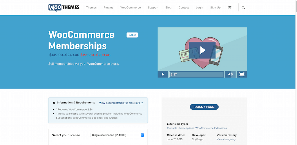 WooCommerce Memberships WooThemes