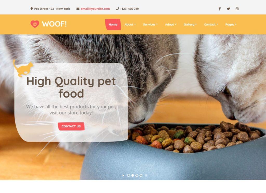 Woof! | Pet WordPress Theme
