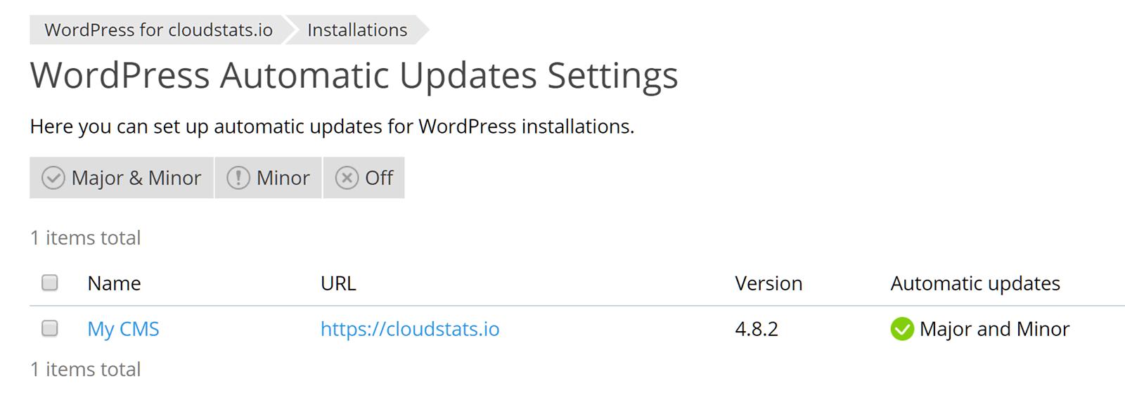 Enable Automatic WordPress Updates