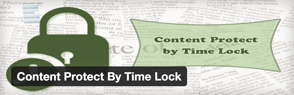 WordPress › Content Protect By Time Lock « WordPress Plugins