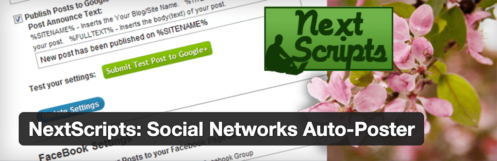 WordPress › NextScripts Social Networks Auto Poster « WordPress Plugins