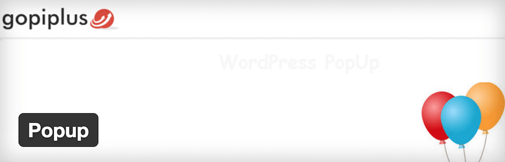 WordPress › Popup « WordPress Plugins