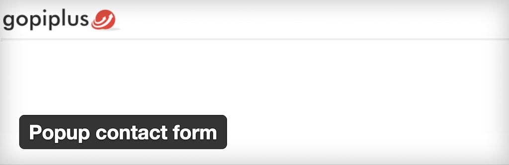 WordPress › Popup contact form « WordPress Plugins