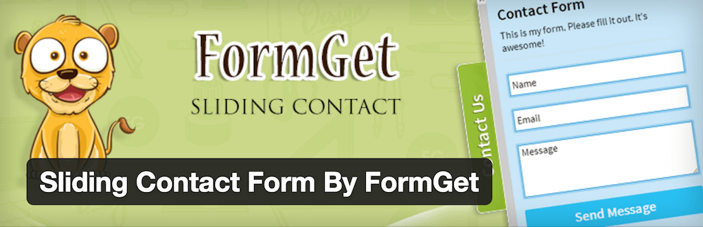 WordPress › Sliding Contact Form By FormGet « WordPress Plugins
