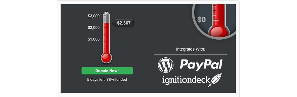 WordPress Goal thermometer