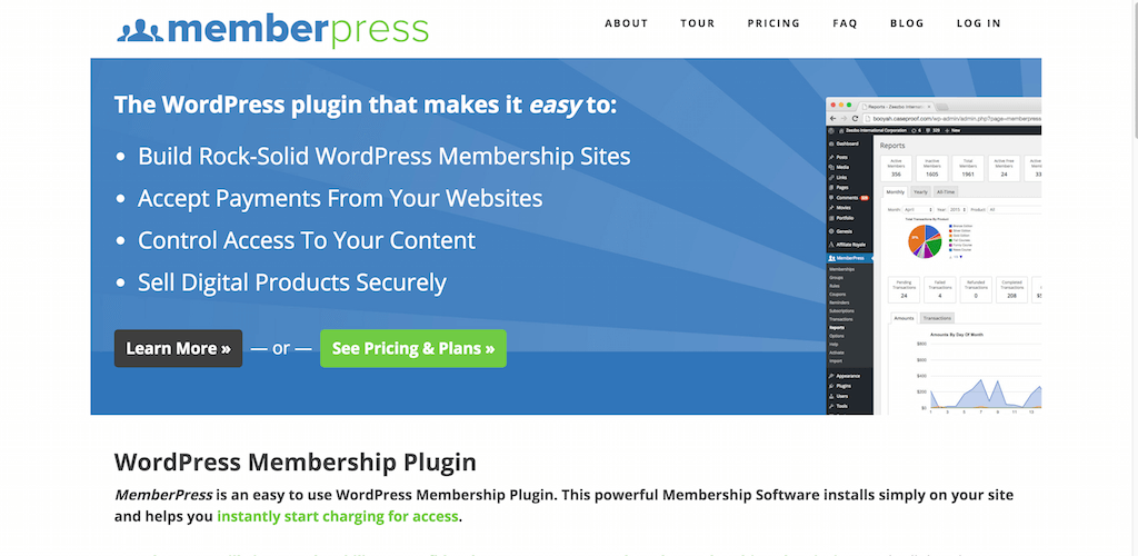 WordPress Membership Plugin Membership Software MemberPress