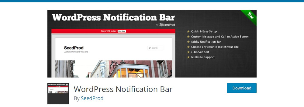 WordPress Notification Plugins: WordPress Notification Bar