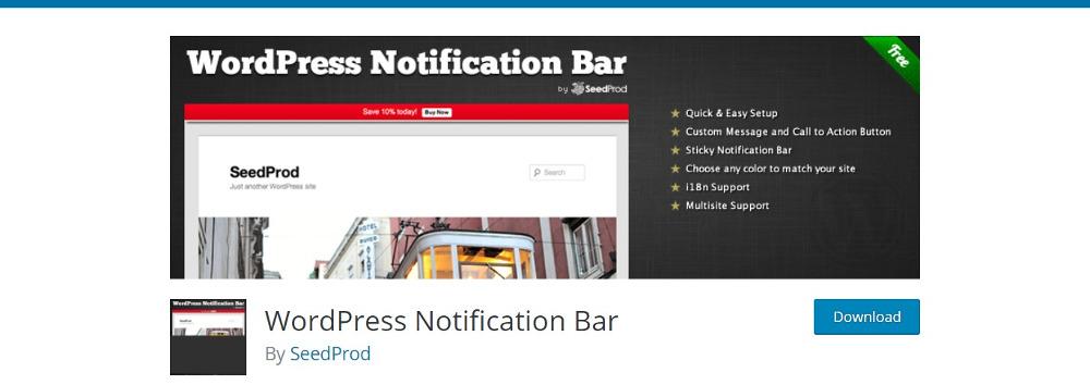 WordPress Notification Plugins: WordPress Notification Bar