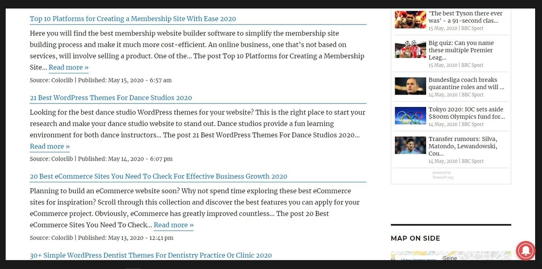 WordPress RSS Feed Retriever demo page