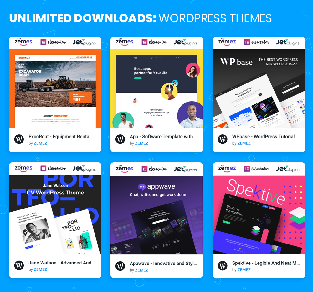 WordPress Themes Unlimited Downloads