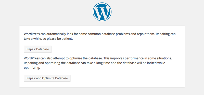WordPress-database-repair