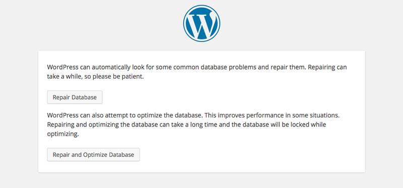 WordPress-database-repair