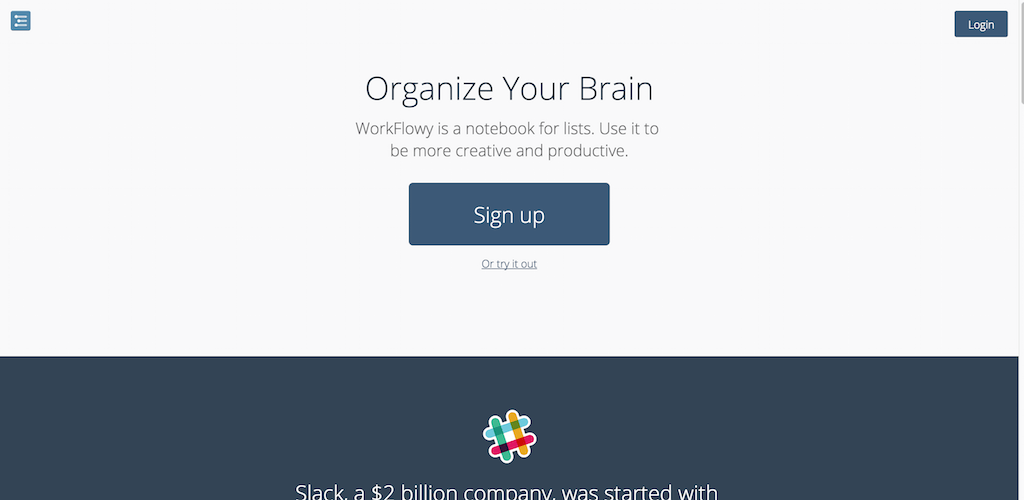 WorkFlowy Organize your brain.