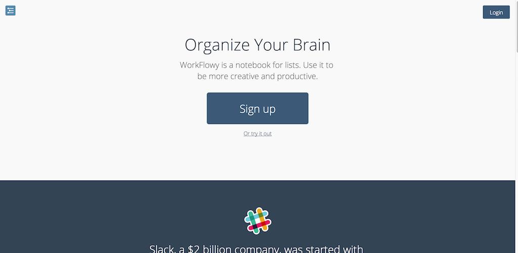 WorkFlowy Organize your brain.