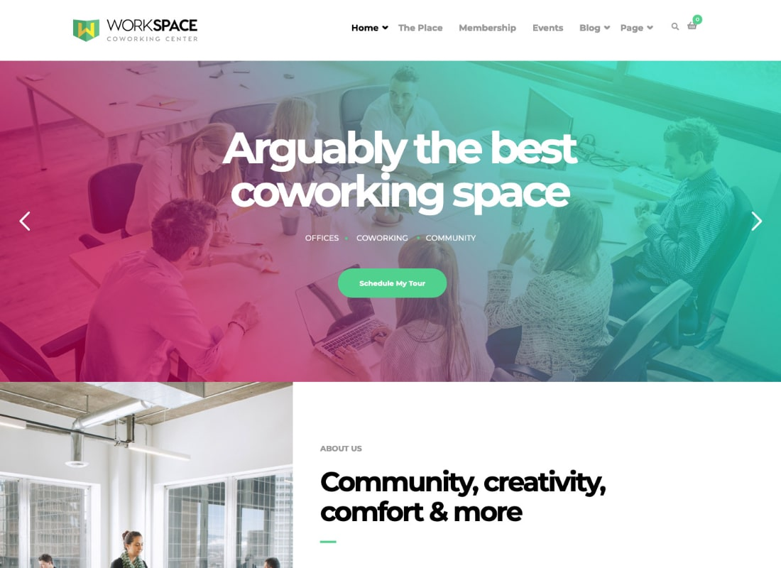Workspace | Creative Office Space WordPress Theme